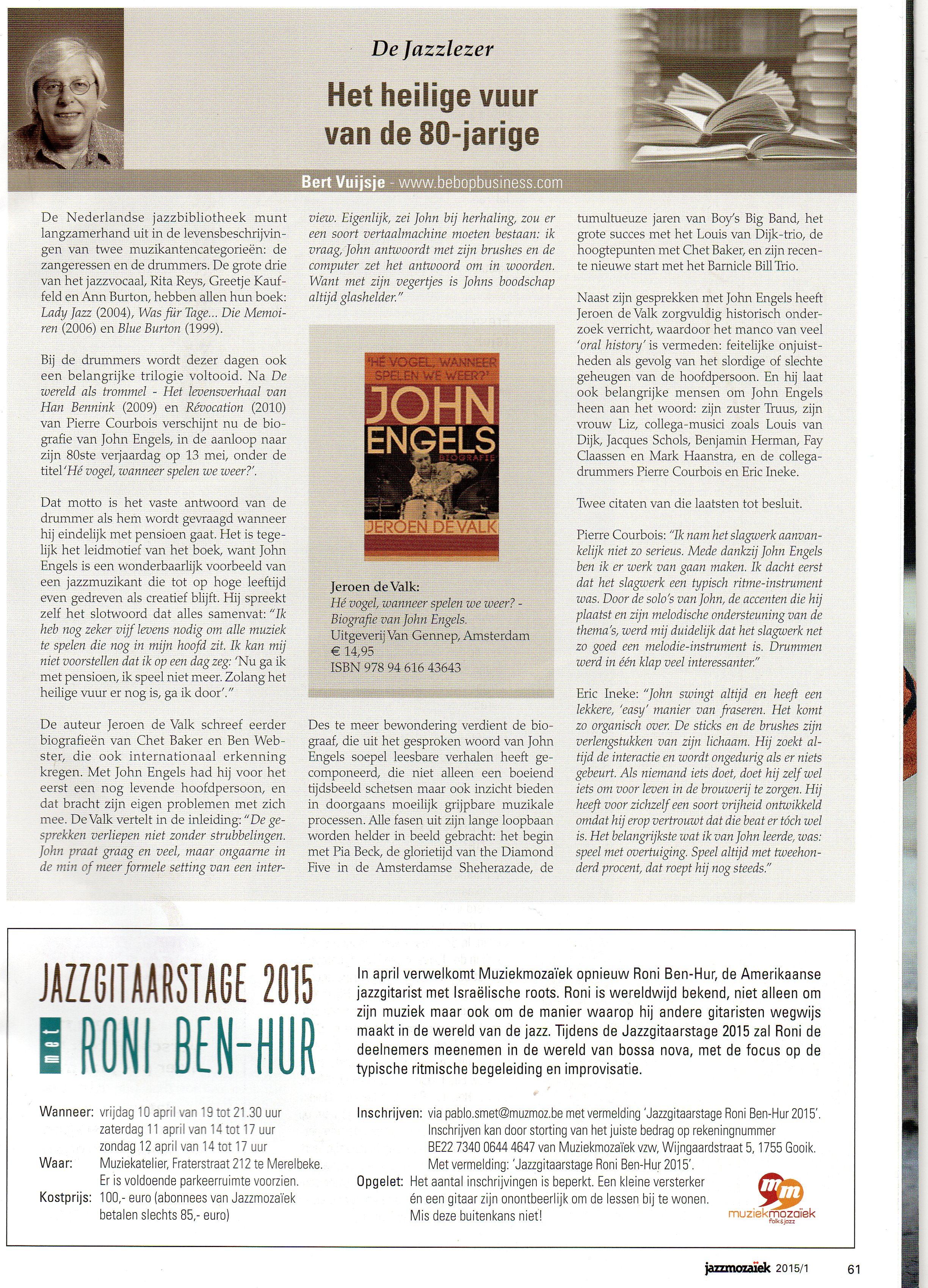 Het Heilige Vuur van een 80 jarige - John Engels