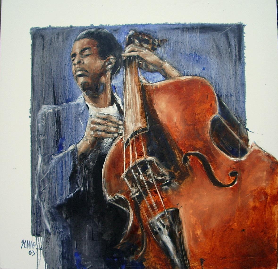 Expositie 'Jazzportretten' Dirk van Schie in DJS